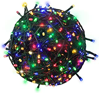 RPGT 500 LEDs 172ft Green Cable Clear Wire Fairy String Tree Twinkle Lights 8 Modes for Christmas Party, Outdoor, Garden, Wedding, Home Decoration (Multi Color)