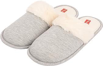 Hanes Women's Superior Comfort Cotton Slip on Scuff Slipper with Memory Foam and Anti-Skid Sole