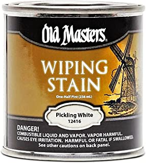OLD MASTERS 12416 Oil Based Wiping Stain, Pickling White
