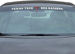 ملصق للزجاج الأمامي للرابطة الوطنية لرياضة الجامعات تكساس تيك، مقاس واحد، لون واحد