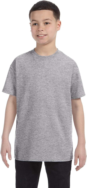 By Gildan Gildan Youth 53 Oz T-Shirt - Sport Grey - XS - (Style # G500B - Original Label)