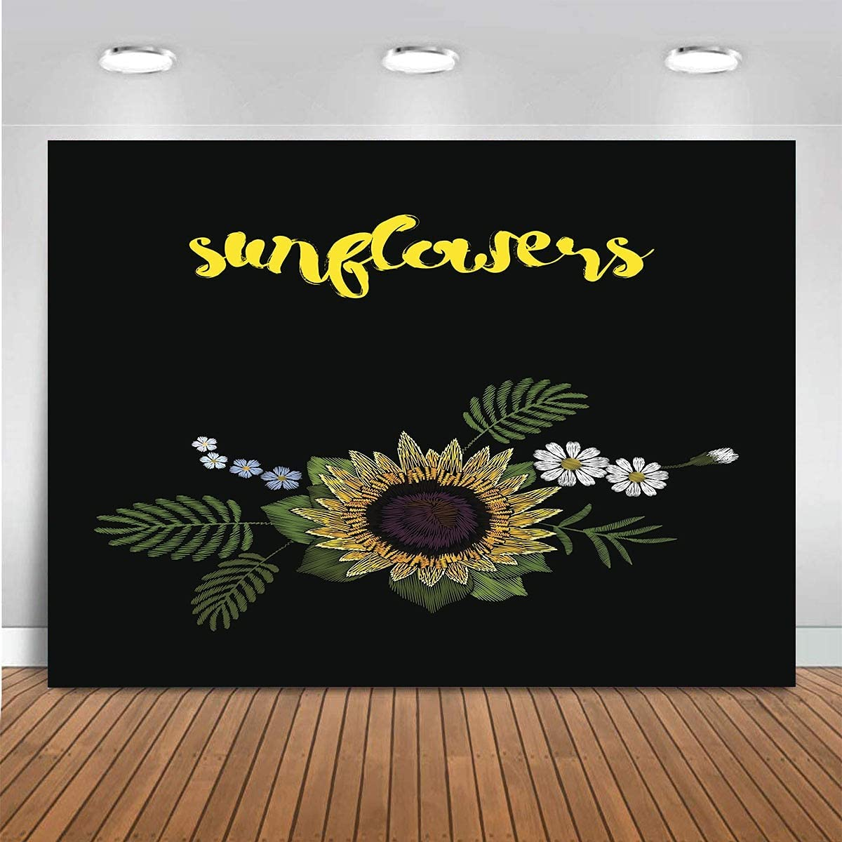 Los Angeles Mall Claiyi Sunflowers Backdrop Floral Max 87% OFF Photography Background Profess