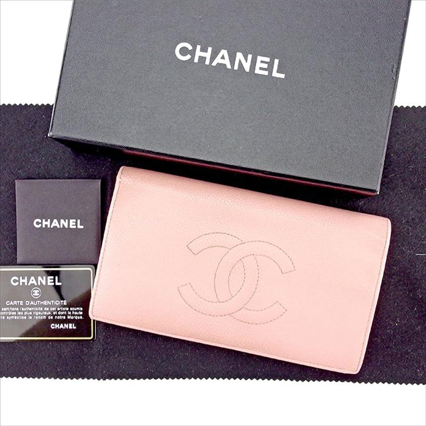 孤児オープニングランドマーク(シャネル) Chanel 長財布 ファスナー付き長財布 ピンク×ゴールド ココマーク レディース 中古 A1363