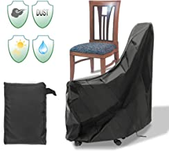 Essort Patio Chair Cover, One Pack Durable Waterproof Indoor Outdoor Chair Protective Cover, Anti-UV Weather Proof, 35