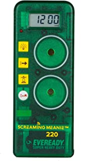 Screaming Meanie 220 Alarm Clock and Timer - Extremely Loud for Deep Sleepers - Multi-Purpose Clock - 3 Sound Levels - Assorted Colors (Green)