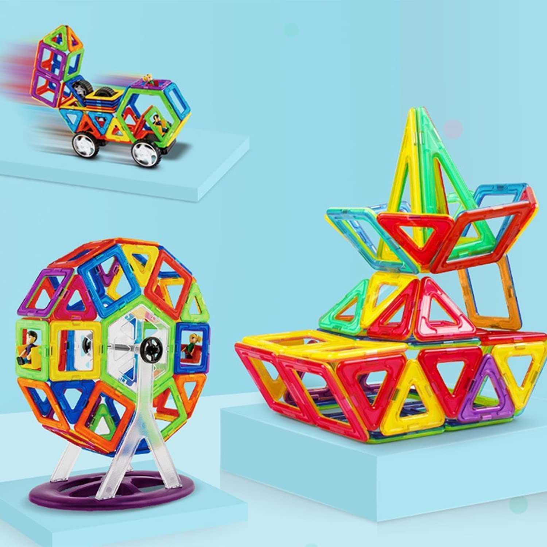 Magnetic Blocks Building Toys Gifts DIY 3D Construction Magnetic Tiles Educational Toys for Kids(55Pcs Set)