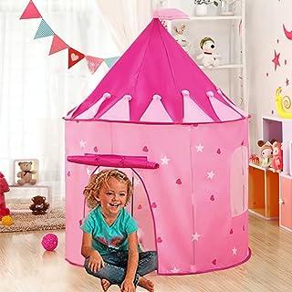 comprar comparacion Carpa plegable, WER tienda campaña infantil para niños/ casa de juego en forma de castillo - Rosa