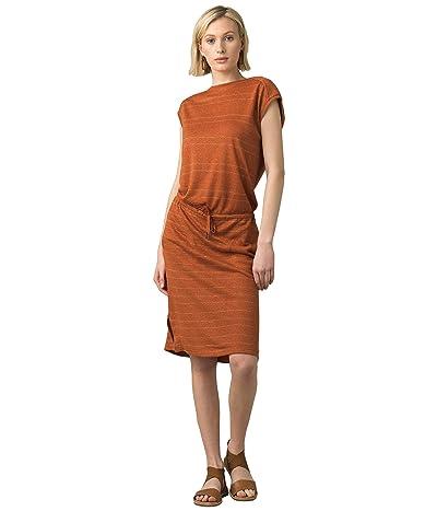 Prana Caris Cozy Up Dress (Cedar Heather Stripe) Women