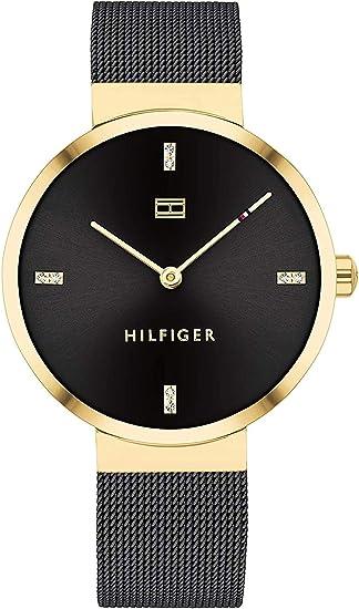 Tommy Hilfiger Reloj analógico de Cuarzo para Mujer Liberty con Correa de Malla de Acero Inoxidable