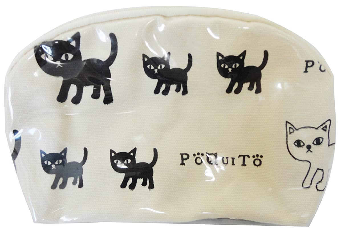 破産石織るGV 猫グッズ ポーチ ポキート A アイボリー 537348