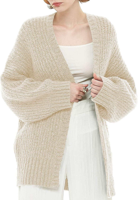 DIVASKY Women's Open Front Cardigan Sweater Wool Oversized Chunky Knit Cardigans