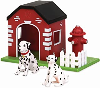 Terra by Battat – Firehouse Dogs - Toy Animal Figure Dog Playset for Kids 3-Years-Old & Up (3 Pc)