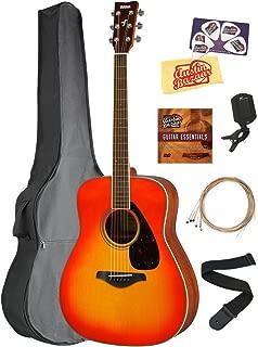 Yamaha FG820 Solid Top Folk Acoustic Guitar - Autumn Burst Bundle with Gig Bag, Tuner, Strings, Strap, Picks, Austin Bazaar Instructional DVD, and Polishing Cloth