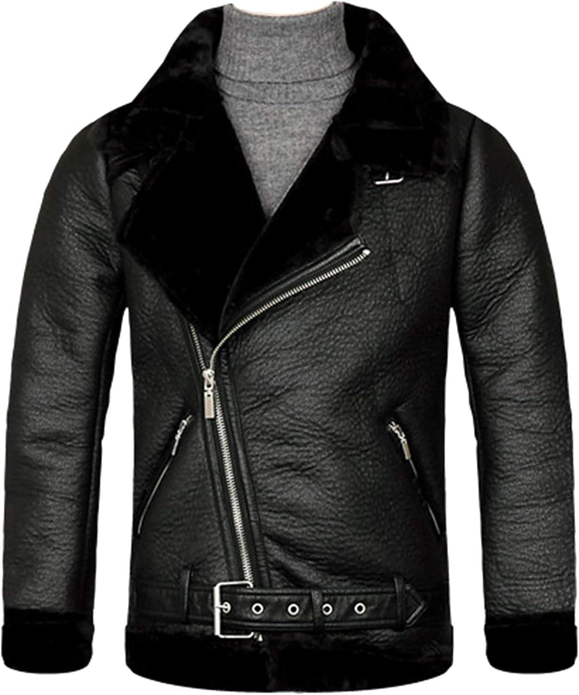 Mens Suede Coat Synthetic Sheep Lamb Skin Blazer Jacket Jumper S012