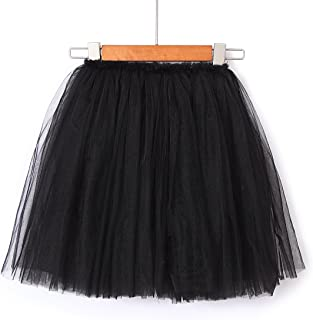 Flofallzique Tulle Girls Skirts Bubble Toddler Tutu Dancing Girls Clothes for 1-12 Years Old