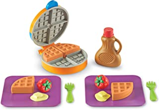 Learning Resources New Sprouts Waffle Time, Pretend Play Food Set, 14 Piece Set, Ages 18 mos+