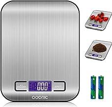 ADORIC Báscula Digital para Cocina de Acero Inoxidable, 5kg