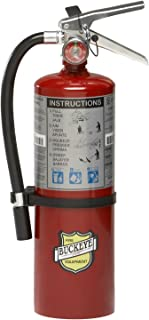 Buckeye 10914 ABC Multipurpose Dry Chemical Hand Held Fire Extinguisher with Aluminum Valve and Wall Hook, 5 lbs Agent Cap...