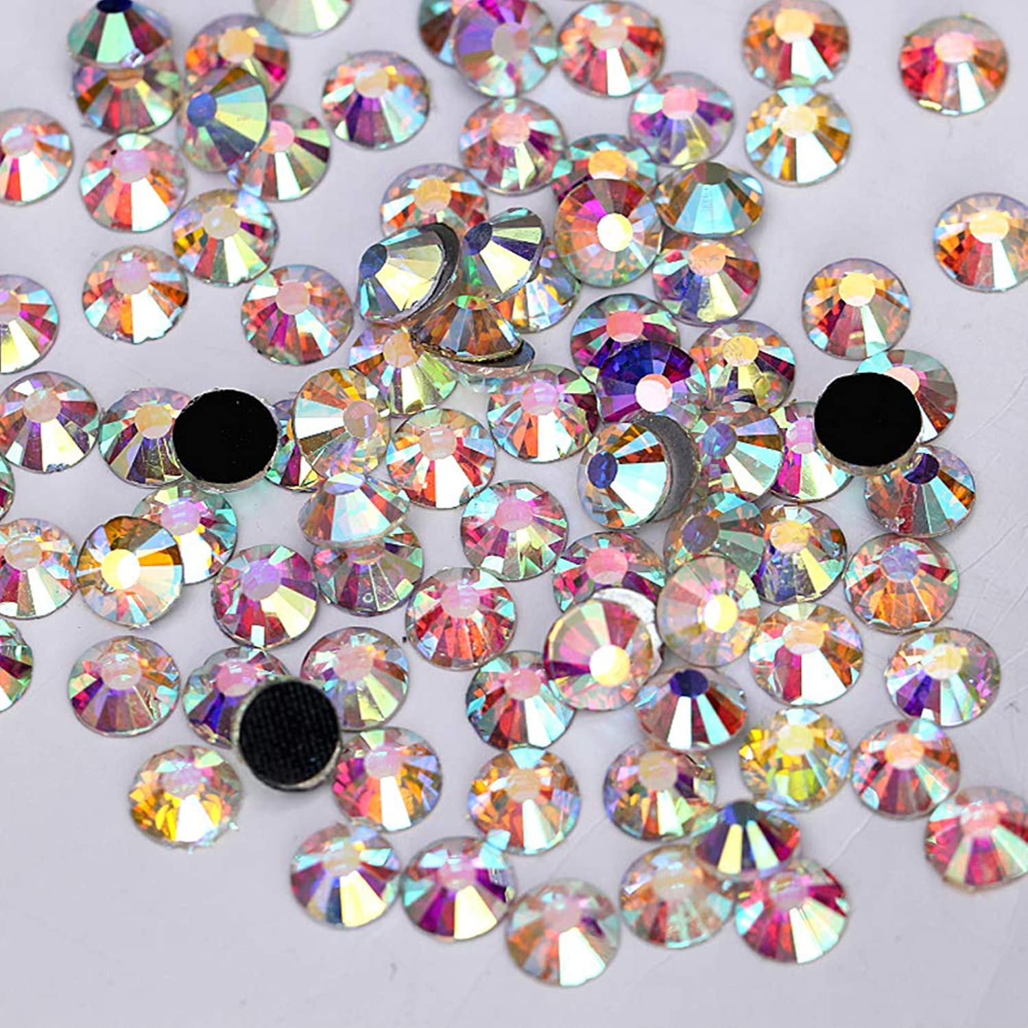 Famleaf Flatback DMC Hotfix Rhinestones Crystal AB Rhinestones for Headwear Clothing Shoes (SS30)