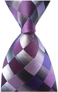 Men's Designer Plaid Checks Ties Patchwork Diamond Patterned Neckties by Ctskyte