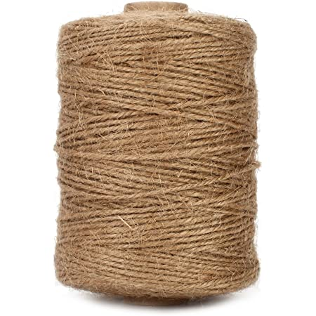 Tenn Well Natural Jute Twine, 500 Feet Long Brown Twine Rope for Crafts, Gift Wrapping, Packing, Gardening and Wedding Decor