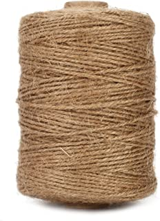 Tenn Well Natural Jute Twine, 500 Feet Long Brown Twine Rope for Crafts, Gift Wrapping, Packing, Gardening, Recycling and Wedding Decor
