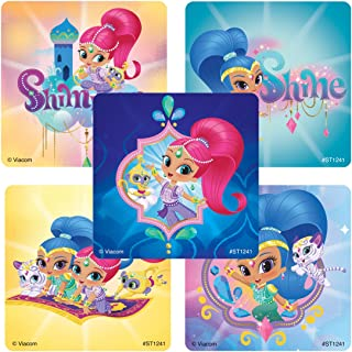 Shimmer & Shine Stickers - Prizes 100 Per Pack