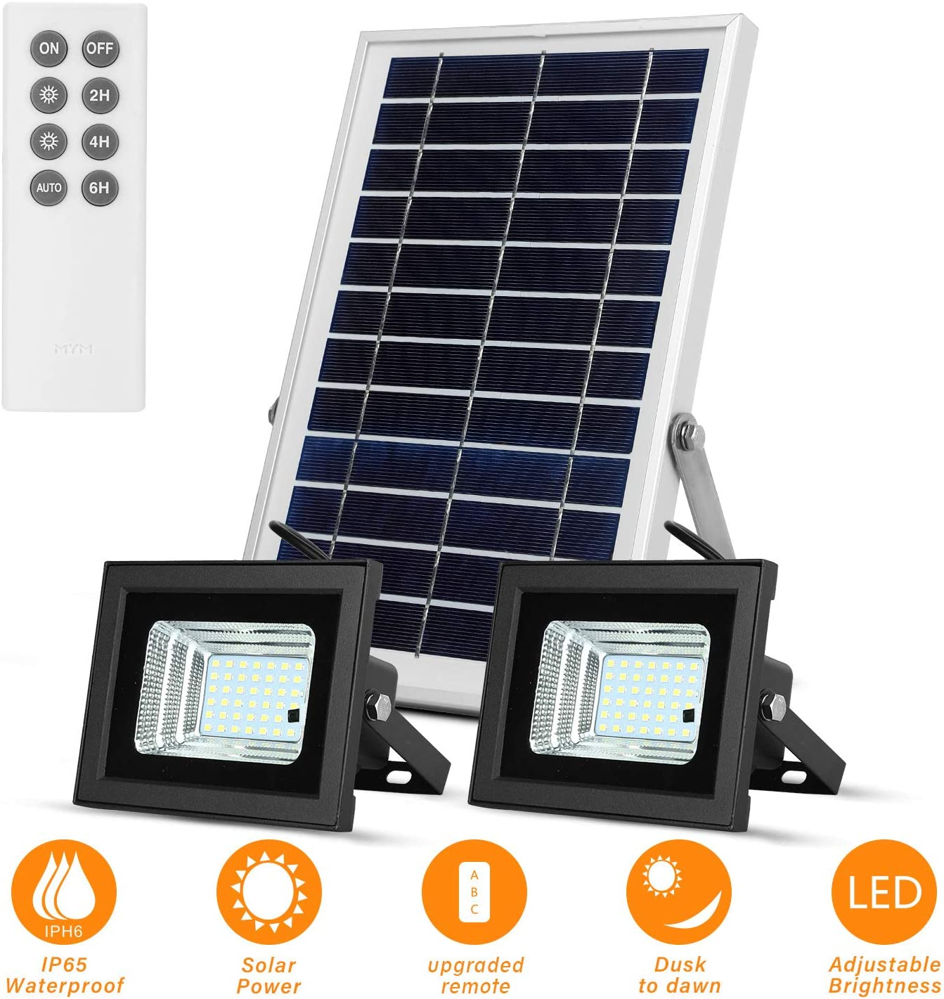 Solar Flood Lights Outdoor Remote 42 Dual 6500K Ranking TOP9 LEDs Dusk Ranking TOP1