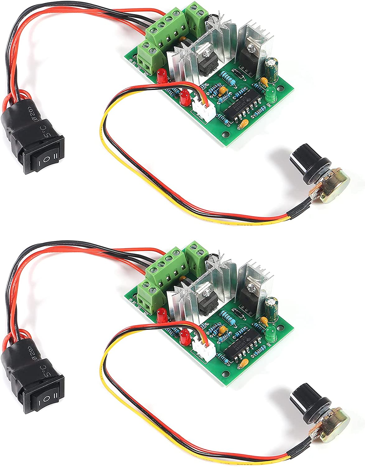 MELIFE 2 Pack Adjustable 120W Ranking Detroit Mall TOP19 DC Controller 10V Speed Motor PWM