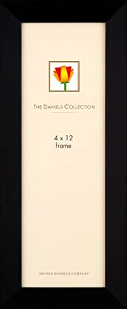 Dennis Daniels Gallery Woods Panoramic Picture Frame, 4 x 12 Inches, Ebony Finish