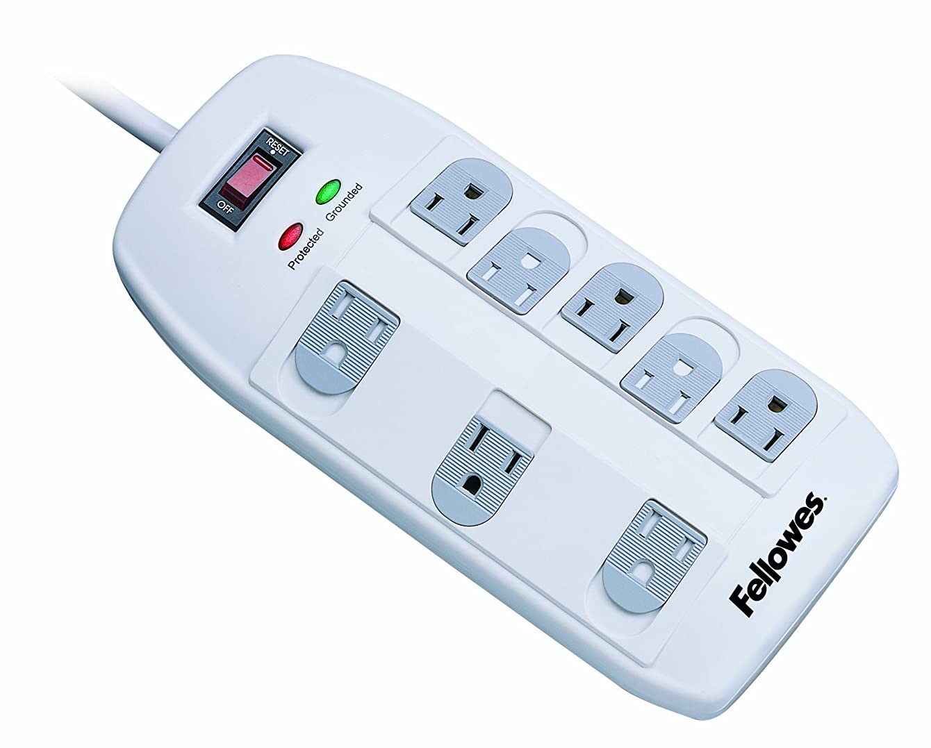 Fellowes 8-Outlet Superior Surge Protector, 6 Foot Cord, 2,160 Joules (99015)