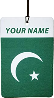 Pakistan Flag Custom Car Air Freshener (Xmas Christmas Stocking Filler/Secret Santa Gift)