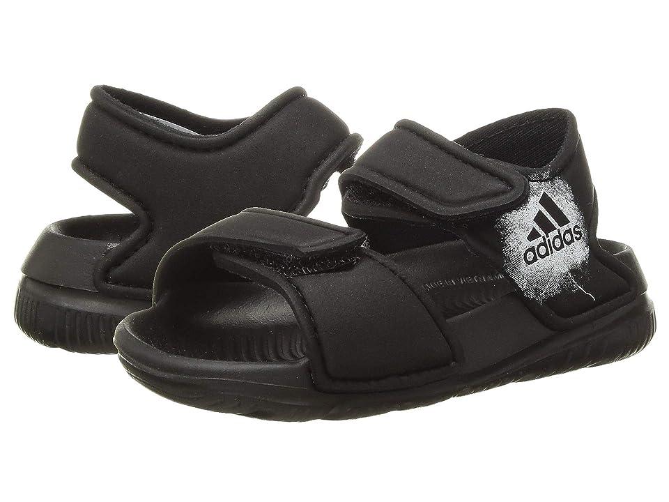 adidas Kids AltaSwim (Infant/Toddler) (Black/White) Boys Shoes