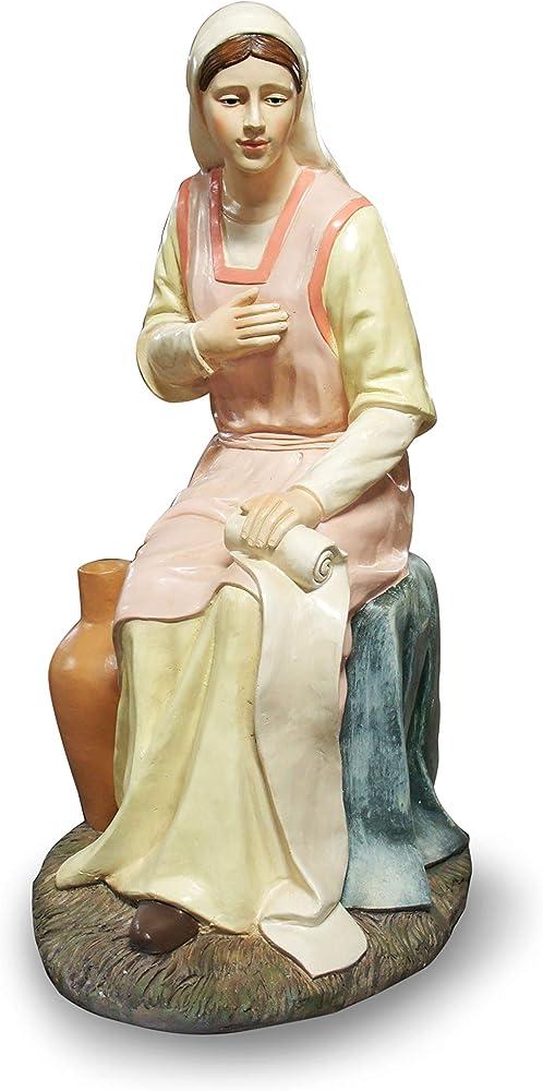 Ferrari & arrighetti statua presepe  linea martino landi,la madonna 120 cm