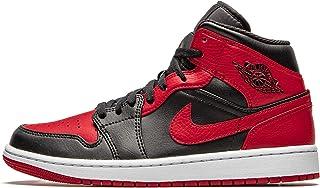 Nike - Air Jordan 1 Mid Banned Baskets pour homme, 554724 074, Couleur : Noir Rouge Blanc