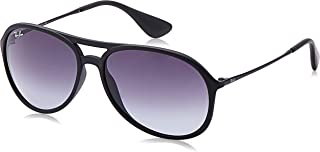 Unisex Adult Alex Aviator Sunglasses in Black Rubber RB4201 622/8G 59