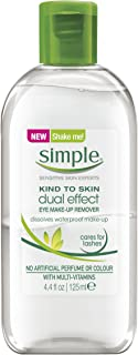 Simple Dual Effect Eye Makeup Remover, 125 ml