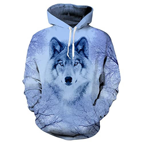 59e7d846a5a6 uideazone Unisex Hooded Sweatshirt 3D Printed Fleece Pullover Hoodie with  Big Pockets