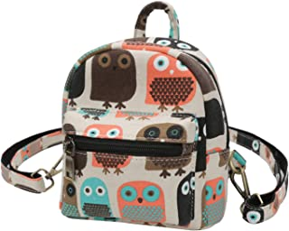 Mini Backpack Purse-Women Elephant Casual Backpack Canvas Small Shoulder Bag for Daily Work School Travel