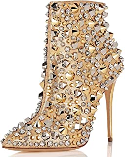 Best gold stiletto ankle boots Reviews
