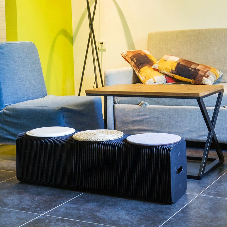 WJJ Folding Paper Stool Sofa Chair Kraft Paper Relaxing Foot StoolFashion Paper Design