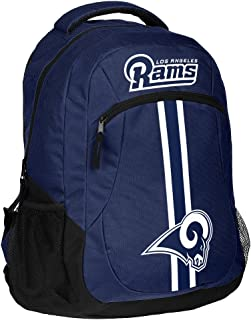 FOCO NFL Los Angeles Rams Action Backpackaction Backpack, Team Color, One Size