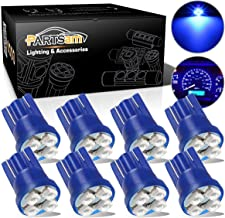 Partsam T10 194 LED Light Bulb 168 LED Bulbs Instrument Panel Gauge Cluster Dashboard LED Light Bulbs No-Polarity 2825 Dome Map Lights - 8Pack Blue