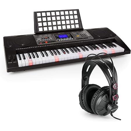 Schubert Etude 450 USB Teclado de aprendizaje con auriculares de estudio Piano de 61 teclas luminosas Reproductor MIDI USB 460 registros 65 canciones ...