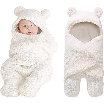 Baby Wrap Blanket Neugeborene verdickte Swaddle Wrap Star-Muster-weiche Winter-Baby-Bettw/äsche Receiving Blanket Schlafsack Anti-Kick-Quilt Blau L