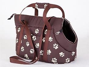 Hobbydog Bolsa de Transporte para Perros y Gatos, tamaño 1, Color marrón con Patas impresión