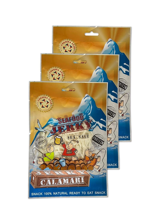 Cantina Star Superior Calamari Jerky 80g Kansas City Mall Pack 3 of
