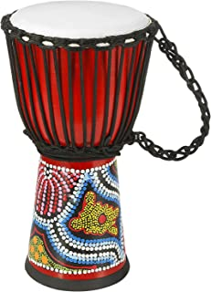طبل دستی Djembe Drum Bongo با طبل آفریقایی Goatskin حجم استاندارد کنگو (8 اینچ) هدیه عالی برای کودکان و بزرگسالان مبتدی