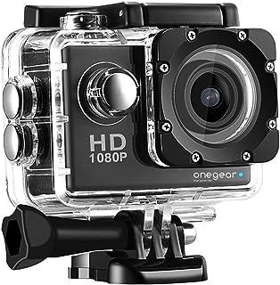 Opro FUN1080 LT actiecamera Full HD 1080P display 2,0 inch zwart met draagtas 30 meter