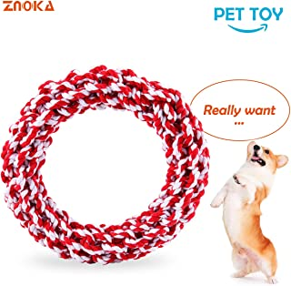 ZNOKA Dog Rope Toys, Non-Toxic 100% Cotton Tough Dog Chew Toys for Large Dogs Aggressive Chewers, Puppy Training Toy, Adult-Senior, Dental Floss Rope for Dogs' Dental Health